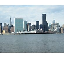 East River View of Manhattan, As Seen from Long Island City Photographic Print