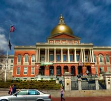 Massachusetts State House by Monica M. Scanlan