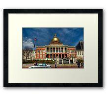 Massachusetts State House Framed Print