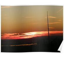 Manhattan, New Jersey Sunset, As Seen from Top of the Rock Poster