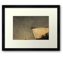 Wildfire water drop Framed Print