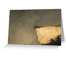 Wildfire water drop Greeting Card