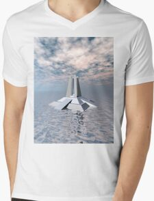 Structural Tower of Atlantis Mens V-Neck T-Shirt