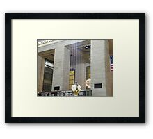 Sunlight Streaming into Grand Central Terminal Framed Print
