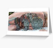 Lake Superior Rocks 3  - Marathon Ontario Canada Greeting Card