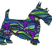 Thistle the Scottish Terrier by KatieMaryMac