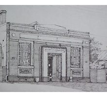 Bank Building Dumbleyung Western Australia by scallyart