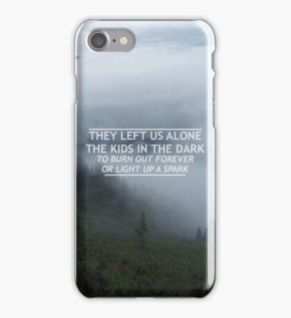 All Time Low - Kids in the Dark Lyrics iPhone Case/Skin