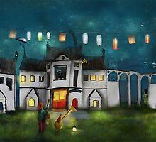 'While The Town Sleeps' II by Matylda  Konecka Art