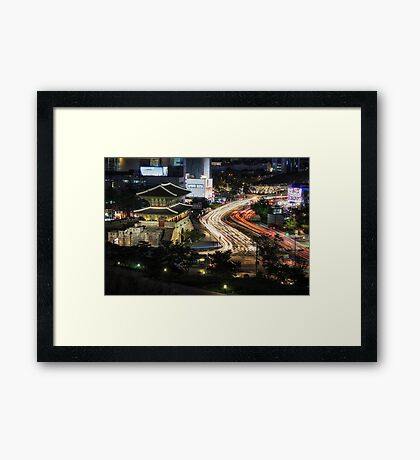 Electric Seoul Framed Print