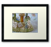 Miniature Cottage Welcome Framed Print