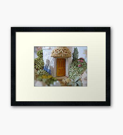 Miniature Cottage threshold Framed Print