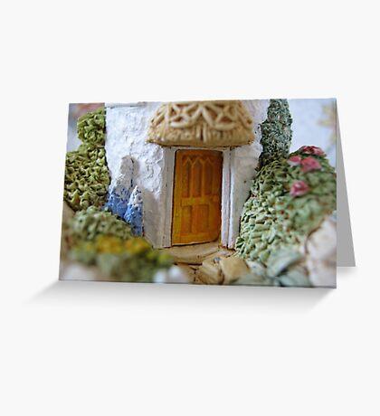 Miniature Cottage threshold Greeting Card
