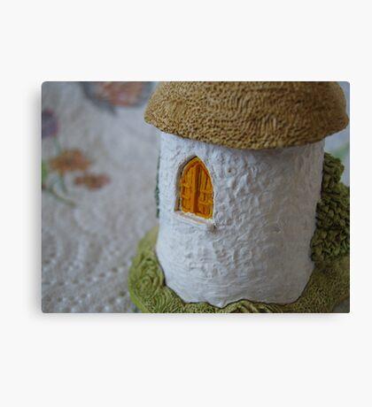 Miniature Cottage _ Shuttered window Canvas Print