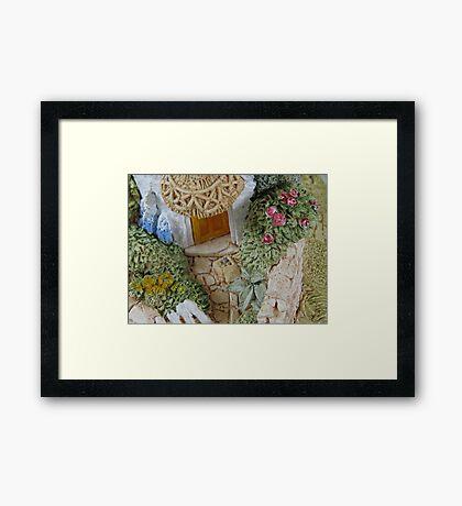 Miniature Cottage _ Garden detail Framed Print