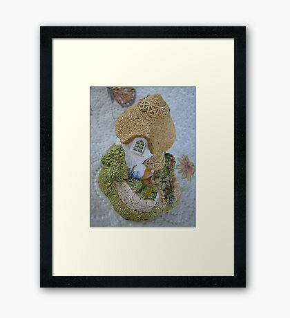 Miniature Cottage Framed Print
