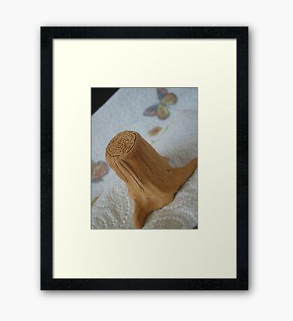 'stumped', for ideas Framed Print