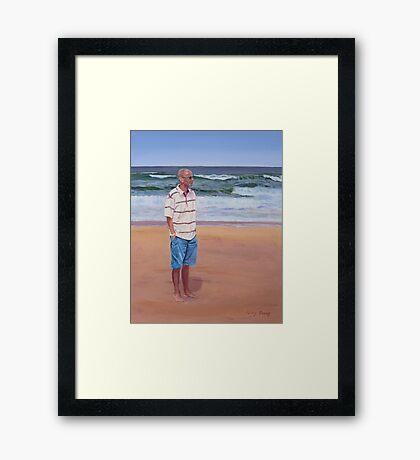 Simon by the Sea Framed Print