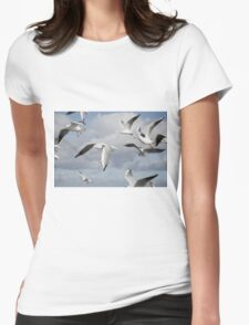 Flying Seagulls Womens Fitted T-Shirt