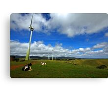 Wind Generation and Nature Canvas Print