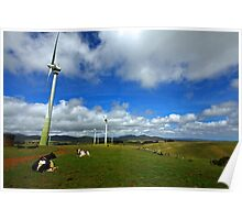 Wind Generation and Nature Poster