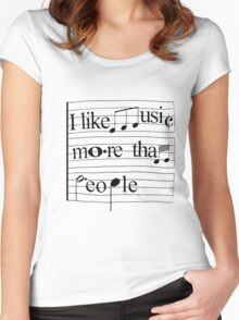 I like music more than people Women's Fitted Scoop T-Shirt