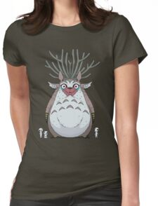 Deer God Totoro Womens Fitted T-Shirt