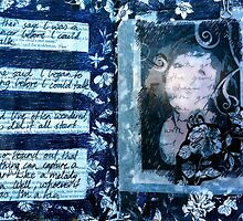 Altered book page- I am the girl with golden hair! by missmilly