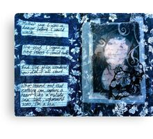 Altered book page- I am the girl with golden hair! Canvas Print