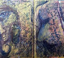 Altered book page - Physical features! by missmilly