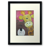 Saying Hello Framed Print