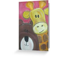 Saying Hello Greeting Card