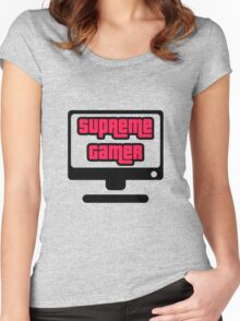 Supreme Gamer (Red-Pink) Women's Fitted Scoop T-Shirt