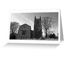 Canon Ashby Church Greeting Card