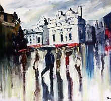 London on a rainy day by ZlatkoMusicArt