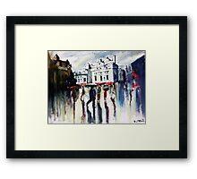 London on a rainy day Framed Print