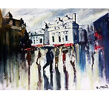 London on a rainy day Photographic Print