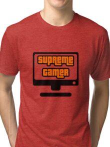 Supreme Gamer (Orange) Tri-blend T-Shirt