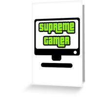 Supreme Gamer (Green) Greeting Card