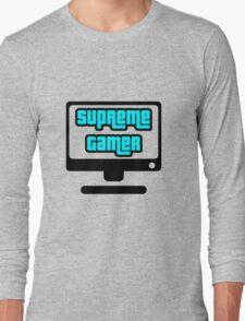Supreme Gamer (Blue) Long Sleeve T-Shirt