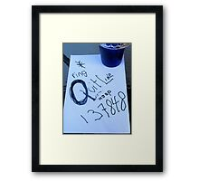 Ring Quitline Framed Print