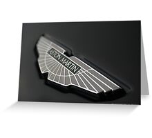 ASTON MARTIN DBS - Bonnett Badge Greeting Card