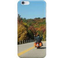 Joyful Autumn Ride - Bikers Know the Best Roads iPhone Case/Skin