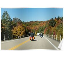 Joyful Autumn Ride - Bikers Know the Best Roads Poster