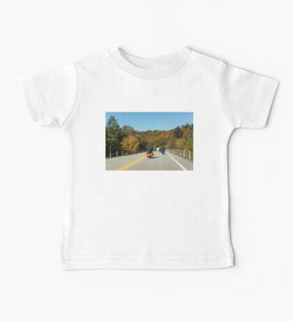 Joyful Autumn Ride - Bikers Know the Best Roads Baby Tee