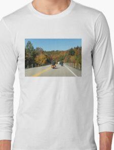 Joyful Autumn Ride - Bikers Know the Best Roads Long Sleeve T-Shirt