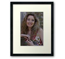 Ella Rose - Contemplating... Framed Print