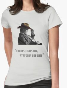 The Doctor - Stetsons are cool Womens Fitted T-Shirt