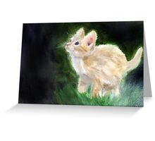 Cute Kitten Oil Painting Greeting Card