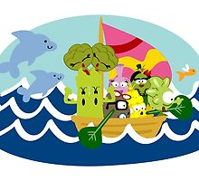 Veggie Ventures Boat by Sonia Pascual
